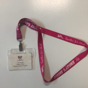 Ainsley's Angels of America pink lanyard