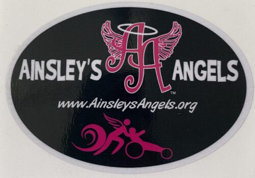Ainsley's Angels of America logo in a sticker