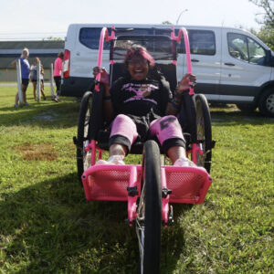 a child in her jogger chair